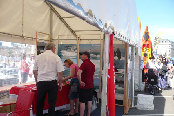 Jersey Boat Show Stand 2013 600