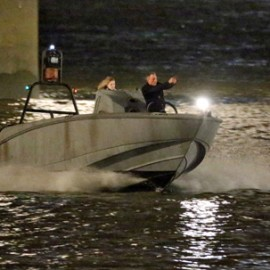 """Boston Whaler featured in action in the latest Bond film """"Spectre"""""""