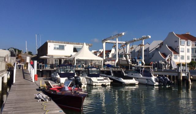 DYC Whaler Berths Club Offices and hoist